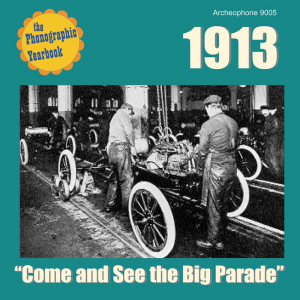 "1913: ""Come and See the Big Parade"" (Various Artists)"