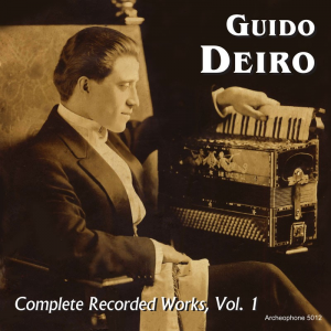 Complete Recorded Works, Volume 1 (Guido Deiro)